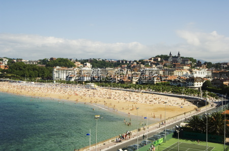 bay beach san sebastian basque country