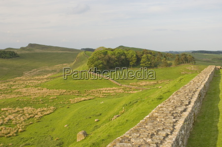 roman wall to east at housesteads