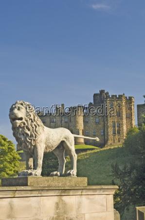 alnwick castle from the lion bridge