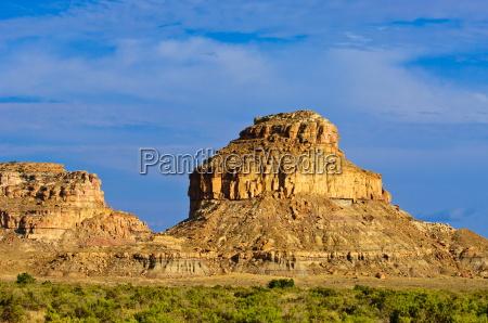 a sandstone butte in chaco culture