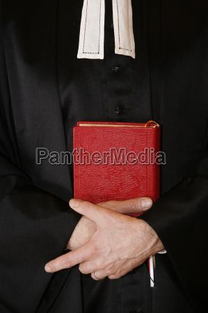 protestantischer, minister, mit, bibel, paris, ile, de, france, frankreich, europa - 20757587