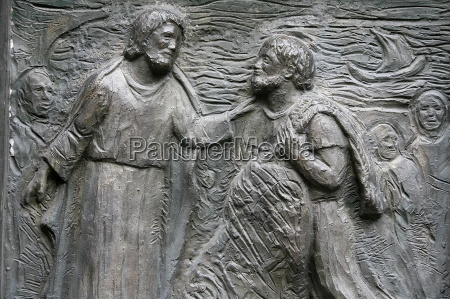 sculpture of the calling of st