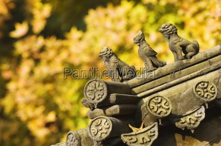 herbstfarben und dekorative chinesische stil dekorative