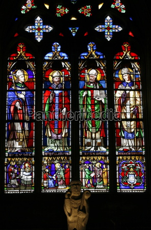 stained glass of saints from brittany