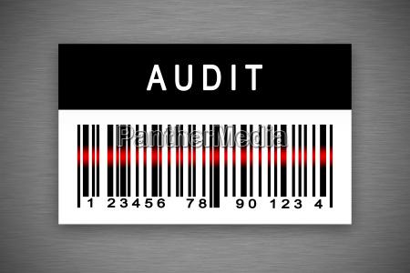 audit barcode label