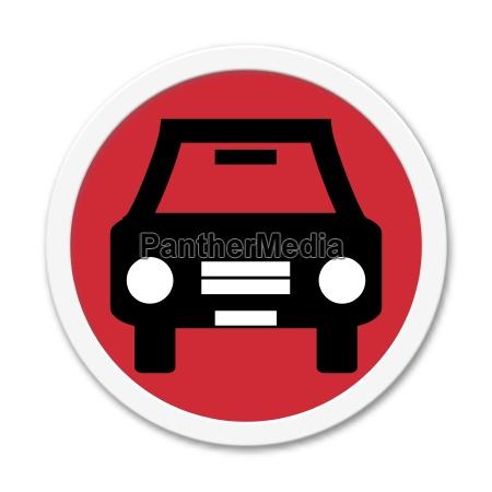 runder button zeigt auto