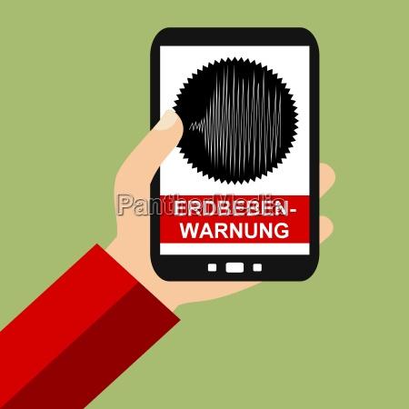 erdbebenwarnung auf dem smartphone