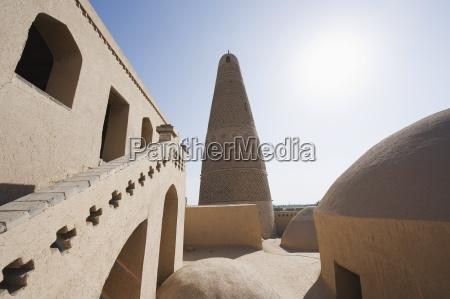 emin minaret turpan on the silk