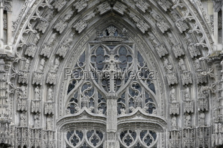 st gatien cathedral gable and tympanum