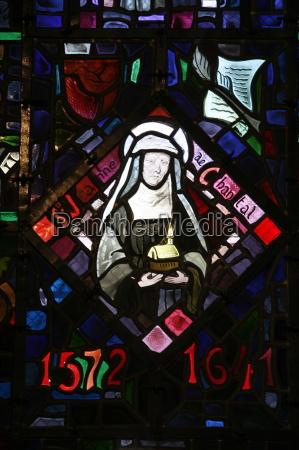 stained glass sainte jeanne de chantal