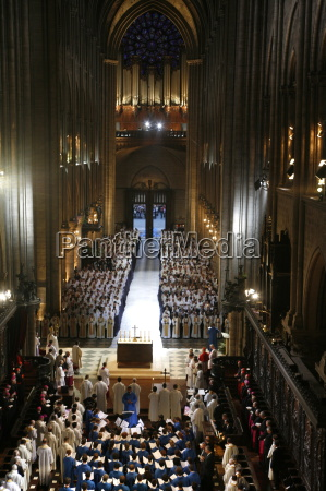 celebration of vespers in notre dame