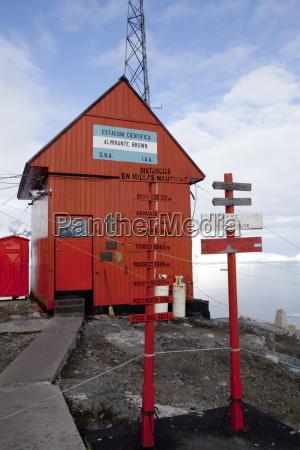 argentinien forschungsstation paradise bay antarktische halbinsel