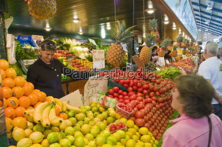 fruit and vegetable stall at the
