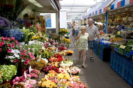 fruit vegetable and flower market in
