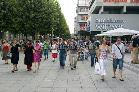 people walking on konigstrasse king street