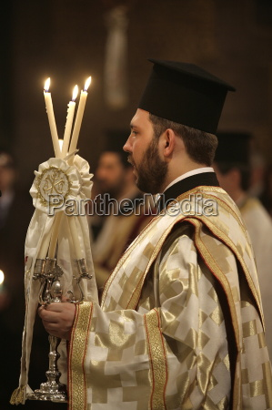christian orthodox easter week celebration in