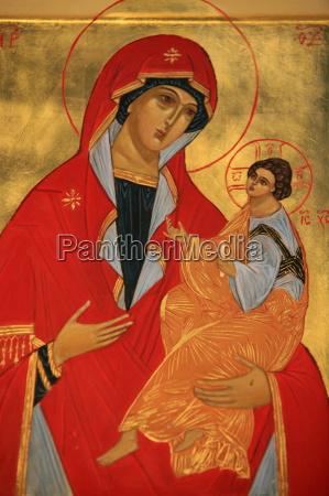 orthodox icon of mary and jesus