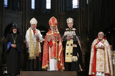 armenian catholic celebration in paris cathedral
