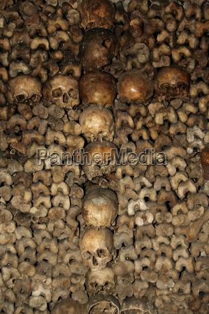 the paris catacombs paris france europe