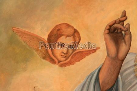 icon detail aghiou pavlou kloster unesco