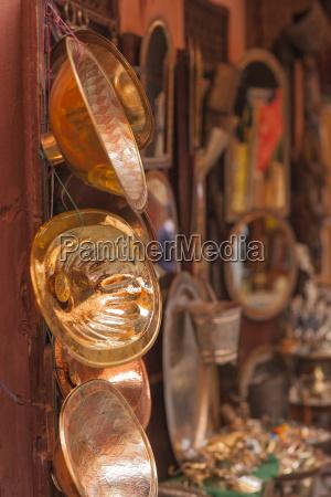 copper merchant in the medina marrakech