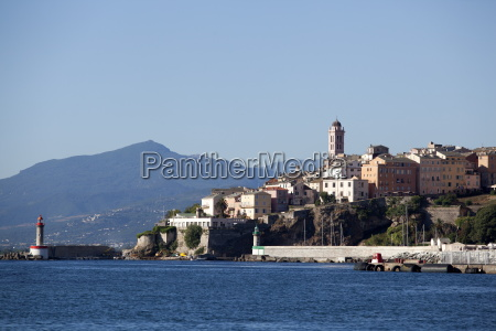 view of the old town bastia