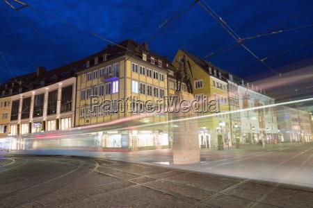 tram in old town freiburg baden