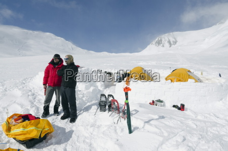 camp 2 climbing expedition on mount