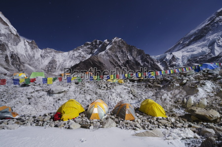 tents at everest base camp solu