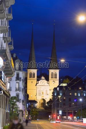 hofkirche st leodegar luzern schweiz europa