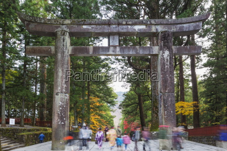 torii gate nikko shrine unesco world