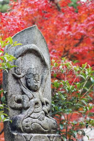 statue in daisho in buddhist temple