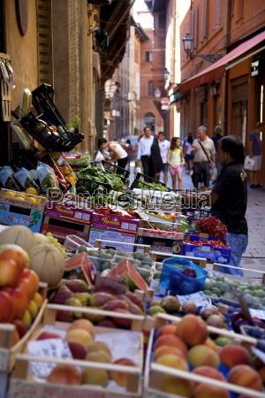 back street fruit and vegetable stall