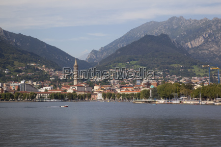 view of town and lake lecco