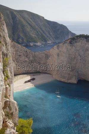 shipwreck bay zakynthos ionian islands greek