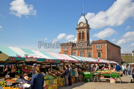 market hall and market stalls chesterfield
