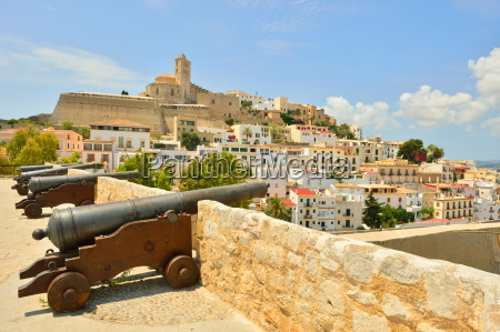 old town ibiza balearic islands spain