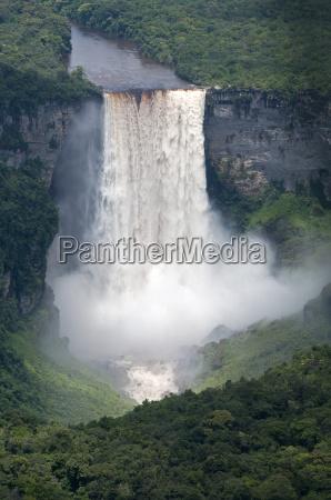 aerial view of kaieteur falls in