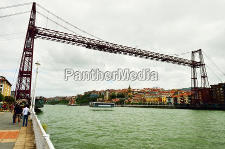vizcaya hanging bridge gustav eifel bilbao