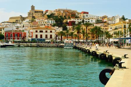 ibiza old town ibiza port ibiza