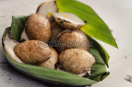 fried coconut milk dessert damnoen saduak