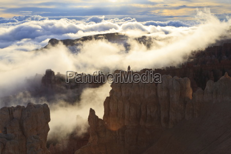 fog and clouds of a partial
