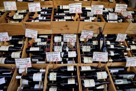 wine for sale street market rue