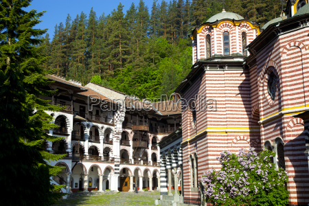 courtyard dormitories and church of the