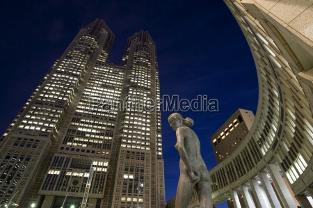 twin towers of the tokyo metropolitan