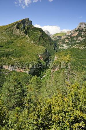 anisclo canyon and eroded karst limestone