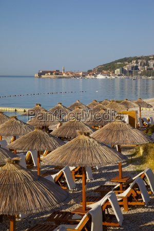 view of budva old town and