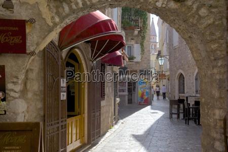 narrow street budva old town budva