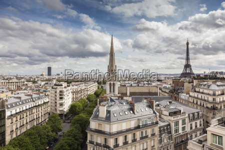 american cathedral and the eiffel tower