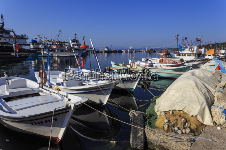 fishing boats and nets sinop black